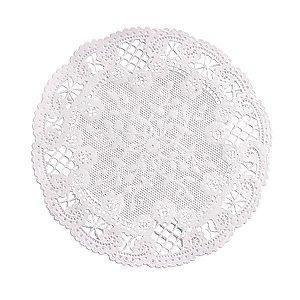 Mini Toalha Rendada de Papel Doilies Redonda - Branca - 12,5 cm - 30 Unidades