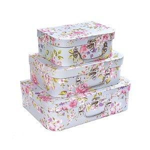 Maletas Floral Provence - Kit com 3 Peças