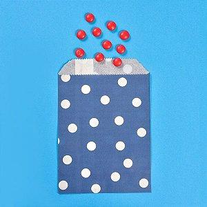 Saquinho de Papel Poá Azul Marinho - Kit com 10 Unidades