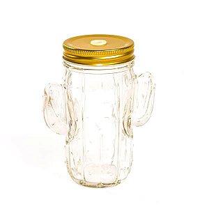 Mason Jars Cactos - 350 ml - 1 Unidade