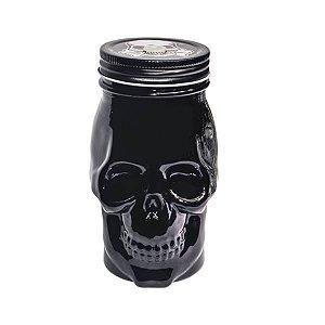 Mason Jar Dark Skull Black - 14.5 x 6.5 cm - 1 Unidade