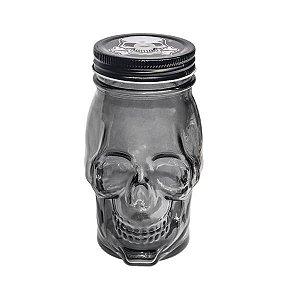 Mason Jar Dark Skull Fumê - 14.5 x 6.5 cm - 1 Unidade