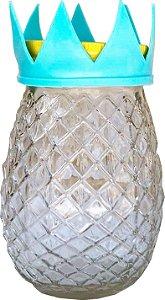 Mason Jar Abacaxi 3D com Canudo - 13.5 x 6.5 cm - 1 Unidade