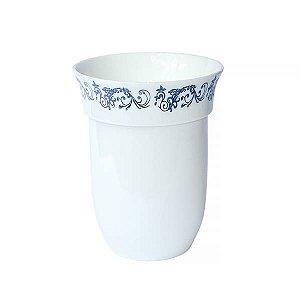 Vaso de Cerâmica Nolan com Arabescos Prateados - 1 nidade