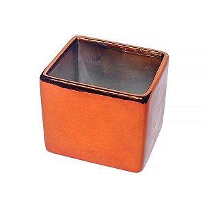 Vaso de Cerâmica Rosê Gold - 10 x 8.5 - 1 Unidade