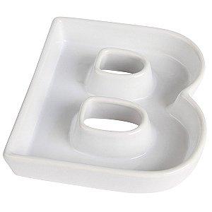 Letra B Decorativa de Cerâmica - 19 cm - 1 Unidade