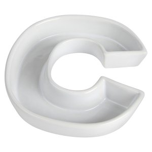 Letra C Decorativa de Cerâmica - 19 cm - 1 Unidade