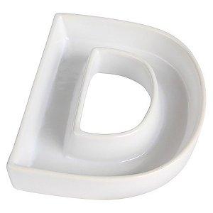 Letra D Decorativa de Cerâmica - 19 cm - 1 Unidade