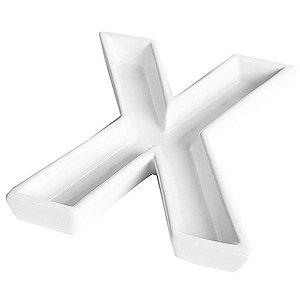 Letra X Decorativa de Cerâmica - 19 cm - 1 Unidade
