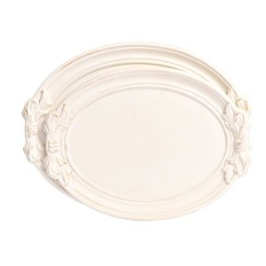 Bandeja de Madeira Sweet White - 45 x 40 cm - 1 Unidade