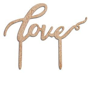Topper para Bolo MDF Love - 18 cm - 1 Unidade