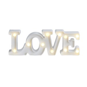 Love LED Branco - 30 cm - 1 Unidade
