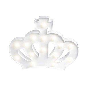 Coroa LED Branco - 29 x 21 cm - 1 Unidade