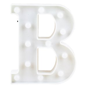 Letras Luminosas LED/ B - 22 CM - 1 Unidade