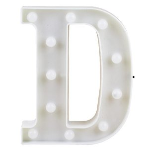 Letras Luminosas LED/ D - 22 CM - 1 Unidade