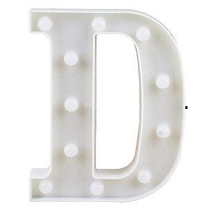 Letras Luminosas LED/ D - 22 CM - 1 Unidade