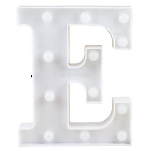 Letras Luminosas LED/ E - 22 CM - 1 Unidade