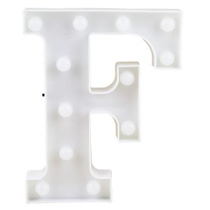 Letras Luminosas LED/ F - 22 CM - 1 Unidade