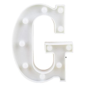 Letras Luminosas LED/ G - 22 CM - 1 Unidade