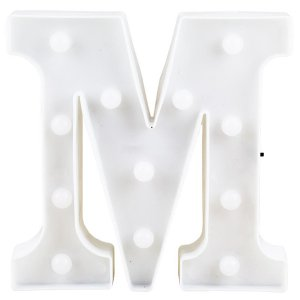 Letras Luminosas LED/ M - 22 CM - 1 Unidade