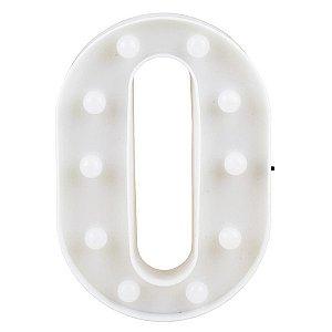 Letras Luminosas LED/ O - 22 CM - 1 Unidade