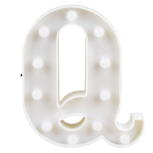 Letras Luminosas LED/ Q - 22 CM - 1 Unidade.