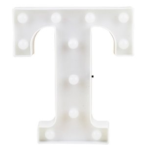Letras Luminosas LED/ T - 22 CM - 1 Unidade.