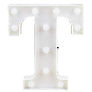 Letras Luminosas LED/ T - 22 CM - 1 Unidade.