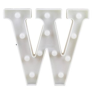 Letras Luminosas LED/ W - 22 CM - 1 Unidade.