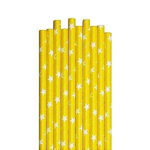 Canudos de Papel Estrelas - Embalagem com 20 Unidades