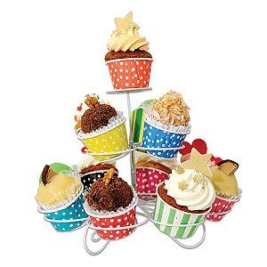 Porta Cupcakes em Espiral - 24,5 cm - 1 Unidade