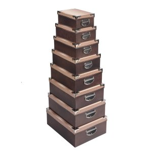 Caixa Retangular Cantoneira Couríssimo - Kit com 8 Unidades