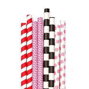 Canudos de Papel para Milk Shake - Embalagem com 10 Unidades