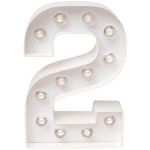 Número Luminoso LED/ 2 - 22 CM - 1 Unidade
