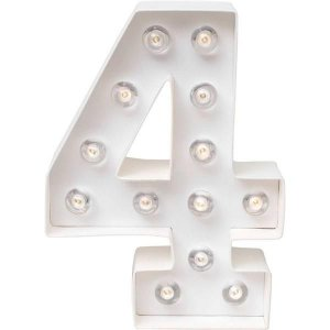 Número Luminoso LED/ 4 - 22 CM - 1 Unidade