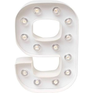 Número Luminoso LED/ 8 - 22 CM - 1 Unidade