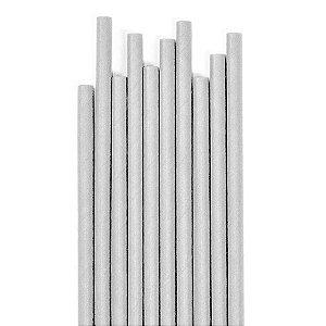 Canudo Cinza Liso - 19.5 cm - Embalagem com 20 unidades