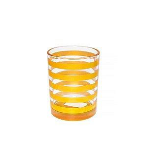 Vaso Listras Douradas - 9,5 x 11,5 cm - 1 Unidade
