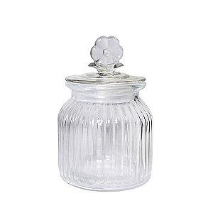 Bombonière Floral Cristal - 15 cm - 1 Unidade