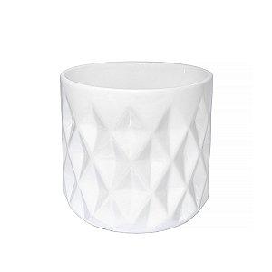Vaso Cerâmica Branco - 11 x 7,5 cm - 1 Unidade