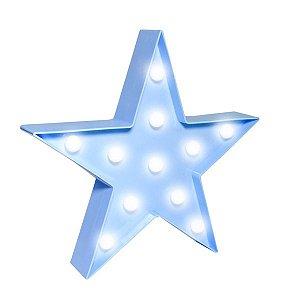 Estrela Luminosa Azul - 27 cm - 1 Unidade