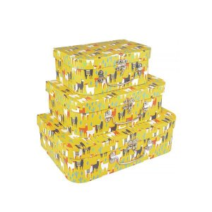 Caixa Maleta Lhama - Kit com 3 Caixas