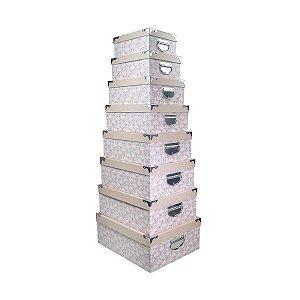 Caixa Retangular Cantoneira - Kit com 8 Caixas
