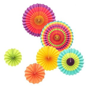 Conjunto de Margaridas Mix Colors - Kit com 6 Unidades.