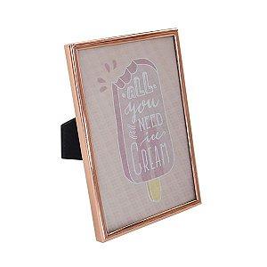 Porta-Retrato Rosê Gold - 1 Unidade