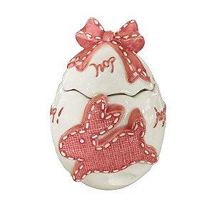 Ovo Cerâmica Mary Rosa - 1 Unidade