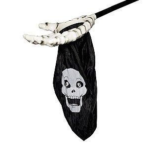 Skull Hands Decorativa Halloween Preto - 1 Unidade