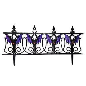 Cerca Decorativa Halloween Morcegos - 1 Unidade