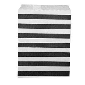Saquinho de Papel Preto Listras - 1 Unidade