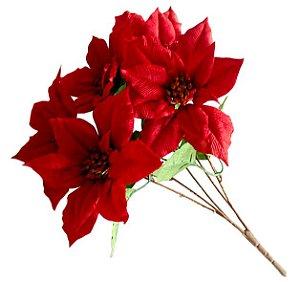 Flor de Natal Permanente - 6 Caules